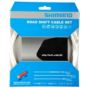 Shimano Road Shift Cable Set polymer coated white
